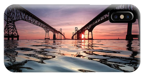 Sunset iPhone Case - Bay Bridge Reflections by Jennifer Casey