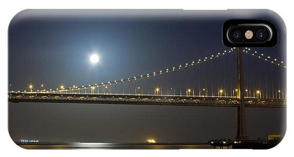 Bay Bridge Supermoon IPhone Case