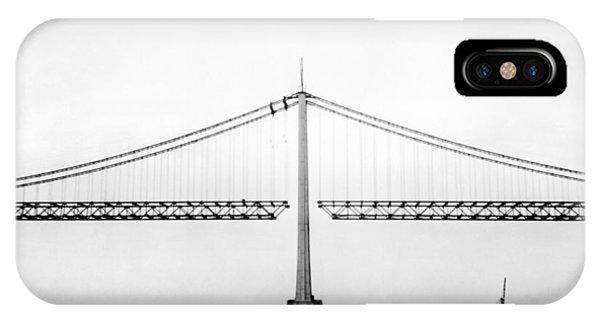Bay Bridge Under Construction IPhone Case