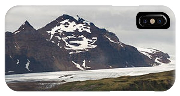 Glacier Bay iPhone Case - Bay In Front Of Snow Covered Mountains by Panoramic Images