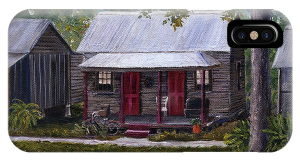 Bayou Cabins Art Breaux Bridge Louisiana IPhone Case