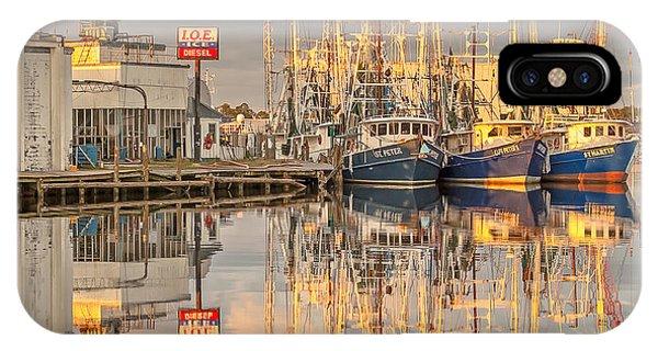 Bayou La Batre' Al Shrimp Boat Reflections 39 IPhone Case