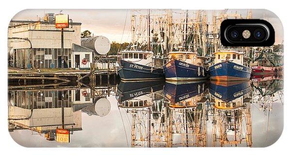 Bayou La Batre' Al Shrimp Boat Reflections 40 IPhone Case