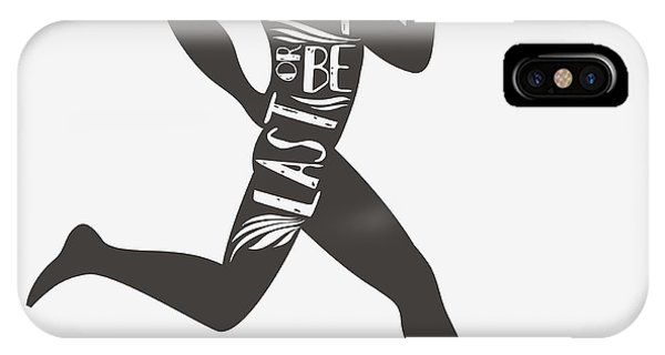 Workout iPhone Case - Be Fast Or Be Last. Sportfitness by Svesla Tasla