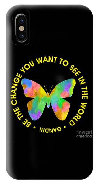 Be The Change - Butterfly In Circle IPhone Case