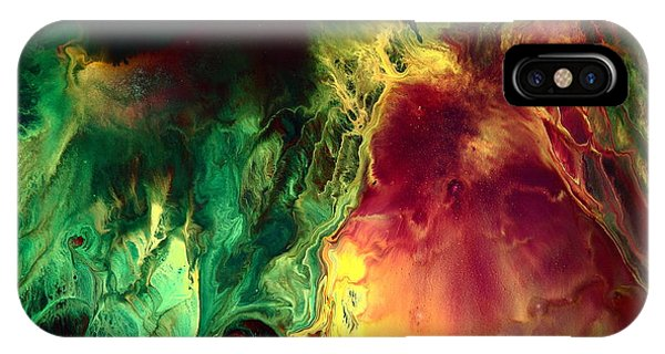 Be Together - Red Green Abstract Art By Kredart IPhone Case