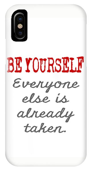 Be Yourself Oscar Wilde Quote IPhone Case