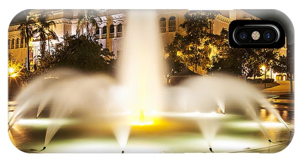Bea Evenson Fountain At Night IPhone Case