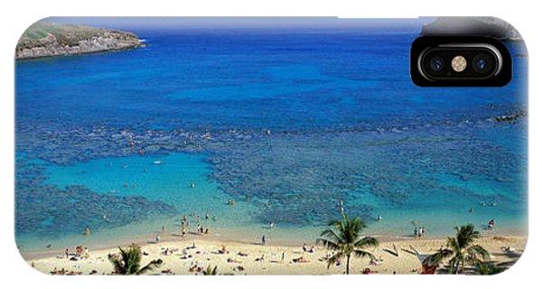 Sunbather iPhone Case - Beach At Hanauma Bay Oahu Hawaii Usa by Panoramic Images