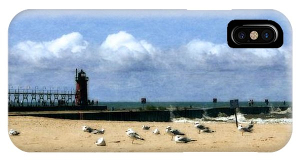 Beach At South Haven  IPhone Case