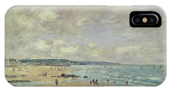 Normandy iPhone Case - Beach At Trouville by Eugene Louis Boudin