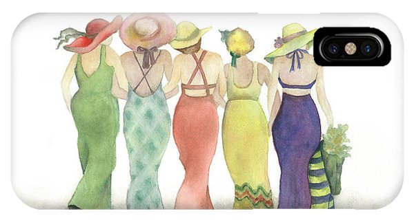 Beach Babes In Coverups And Hats Ready For A Day In The Sun IPhone Case