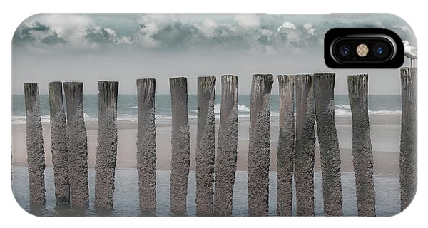 Seagull iPhone Case - Beach Bars by Bernardine De Laat