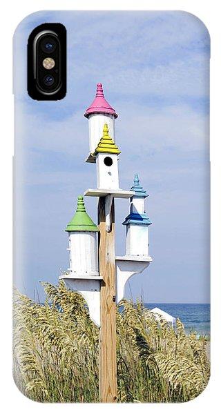 Beach Birdhouses IPhone Case
