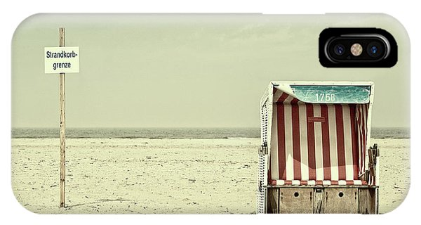 Chair iPhone Case - Beach Chair Border by Burghard Nitzschmann