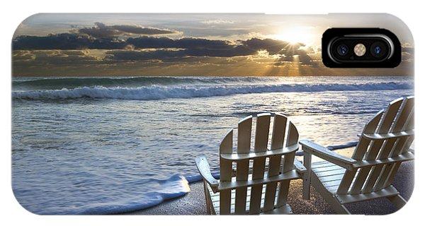 Boynton iPhone Case - Beach Chairs by Debra and Dave Vanderlaan