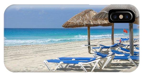 Beach Chairs In Cancun IPhone Case