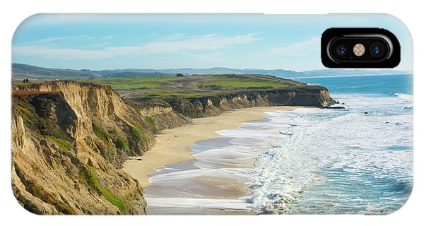 Half Moon Bay iPhone Case - Beach Cliffs Of Half Moon Bay by Bill Bachmann