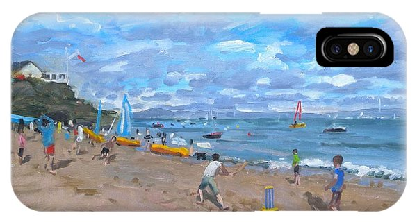 Cricket iPhone Case - Beach Cricket by Andrew Macara