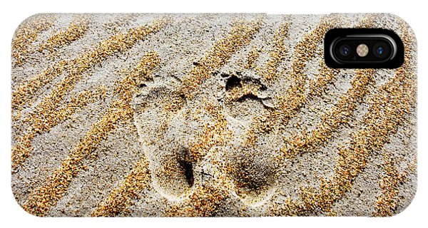 Beach Foot Prints IPhone Case