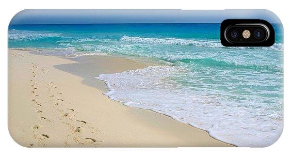 Beach Footprints IPhone Case