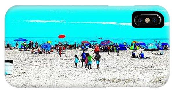 Beach Fun Frisbee IPhone Case