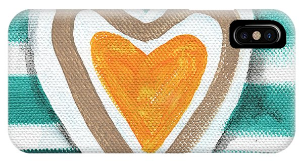 Love iPhone X Case - Beach Glass Hearts by Linda Woods
