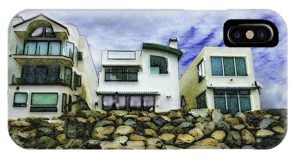 Beach Houses In Oceanside IPhone Case