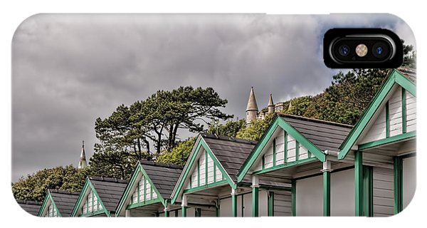 Beach Huts Langland Bay Swansea 3 IPhone Case