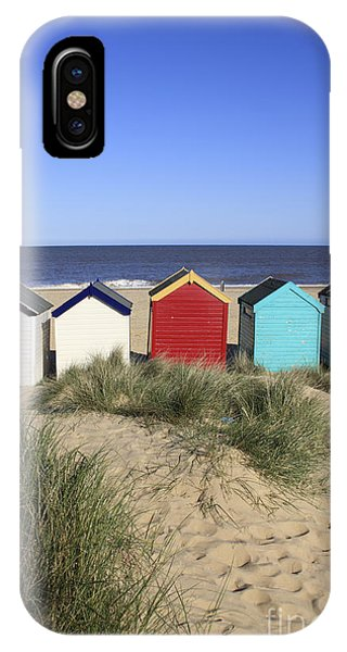 Southwold Beach Huts Uk IPhone Case