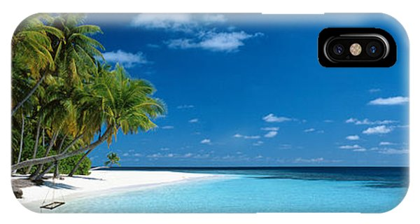Oceanfront iPhone Case - Beach Maldives by Panoramic Images