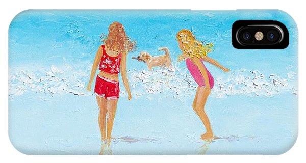 Beach Painting Beach Play IPhone Case