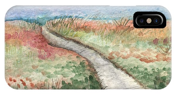 Nature Abstract iPhone Case - Beach Path by Linda Woods