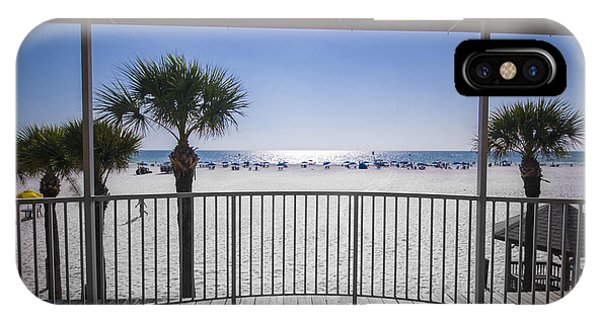 IPhone Case featuring the photograph Beach Patio by Carolyn Marshall