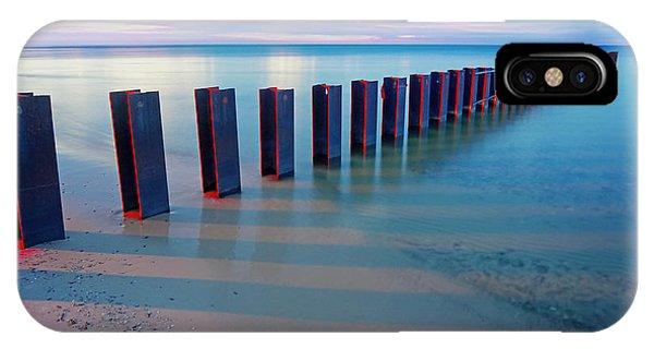 Beach Pylons At Sunset IPhone Case