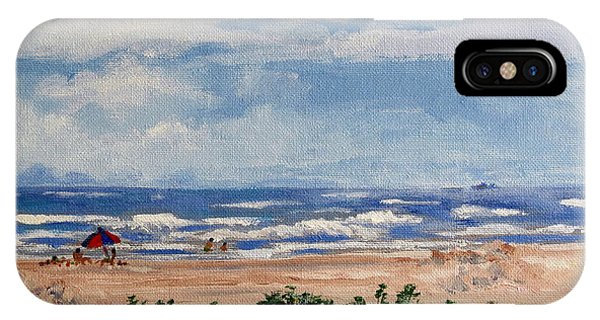 Beach Scene On Galveston Island IPhone Case