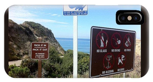 Beach Signs San Clemente IPhone Case