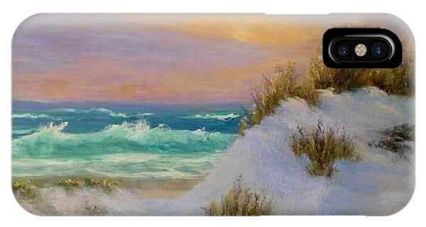 Beach Sunset Paintings IPhone Case