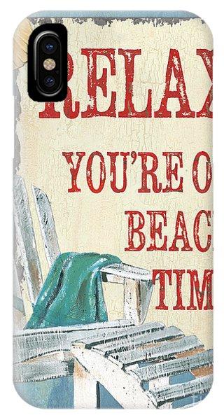 Beach Chair iPhone Case - Beach Time 1 by Debbie DeWitt
