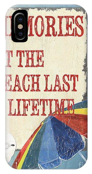 Umbrella iPhone Case - Beach Time 3 by Debbie DeWitt