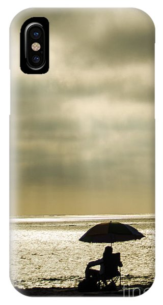 Beach Umbrella Phone Case by Deborah Smolinske