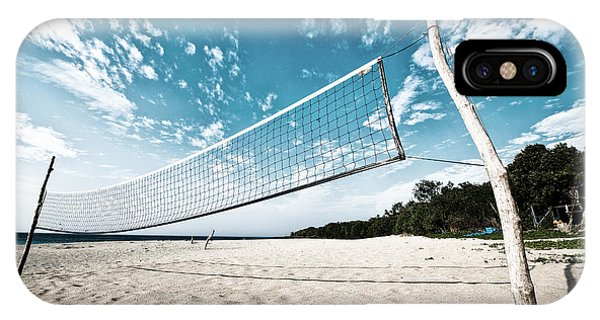 IPhone Case featuring the photograph Beach Volleyball Net by Yew Kwang