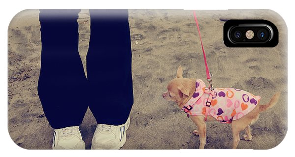 Chihuahua iPhone Case - Beach Walk by Laurie Search