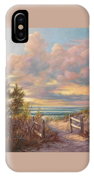 Walk iPhone Case - Beach Walk by Lucie Bilodeau