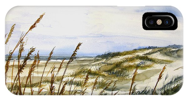 Beach Watercolor 3-19-12 Julianne Felton IPhone Case
