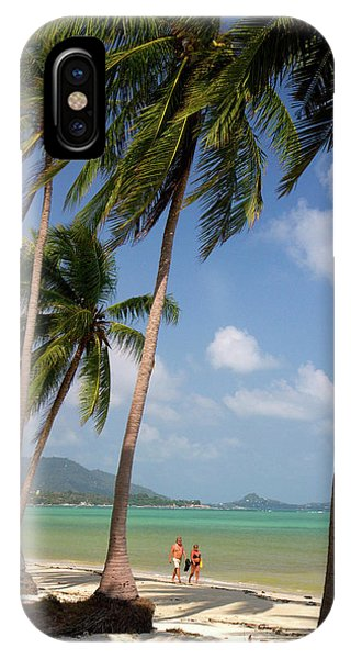 Beach With Palm Trees And The Gulf IPhone Case