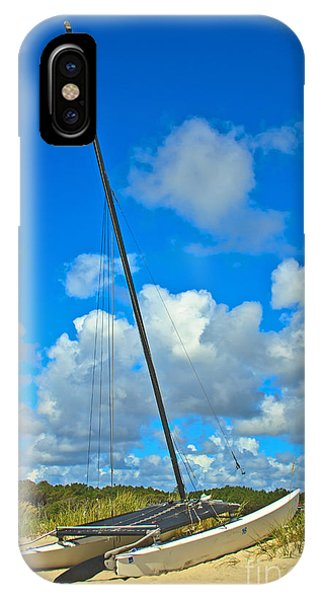 Beached Catamaran  IPhone Case