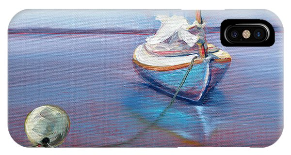 Beached Sailboat At Mooring IPhone Case