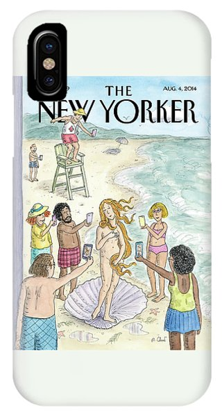 Botticelli iPhone Case - Venus On The Beach by Roz Chast