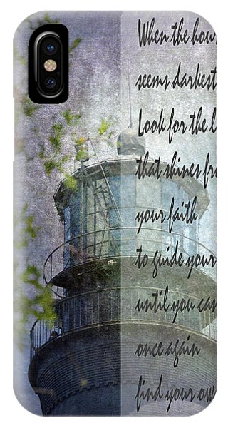 IPhone Case featuring the photograph Beacon Of Hope Inspiration by Judy Hall-Folde